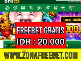 BNI88 Freebet Gratis Rp 20.000 Tanpa Deposit