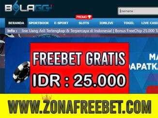 BolaGG Freebet Gratis Rp 25.000 Tanpa Deposit