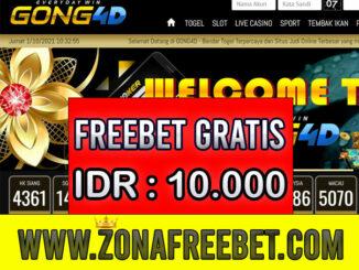 Gong4D Freebet Gratis Rp 10.000 Tanpa Deposit