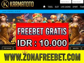KarmaToto Freebet Gratis Terbaru Rp 10.000 Tanpa Deposit