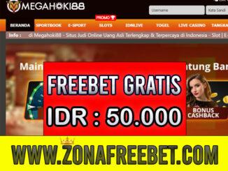 MegaHoki88 Freebet Gratis Rp 50.000 Tanpa Deposit