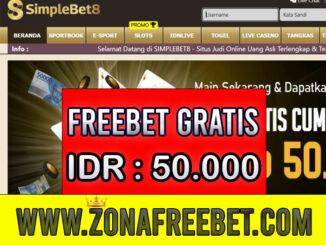 SimpleBet8 Freebet Gratis Rp 50.000 Tanpa Deposit