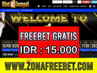 SlotJempol Freebet Gratis Rp 15.000 Tanpa Deposit