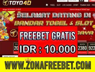 TOYO4D Freebet Gratis Rp 10.000 Tanpa Deposit